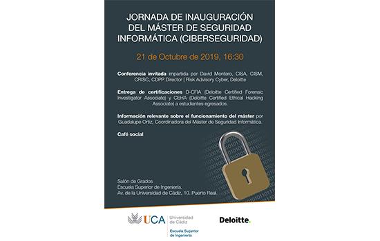 JORNADA DE INAUGURACIÓN DEL MÁSTER DE SEGURIDAD INFORMÁTICA (CIBERSEGURIDAD)