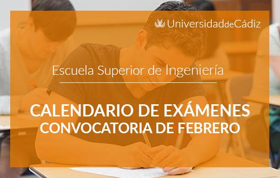 IMG Calendario de exámenes de febrero