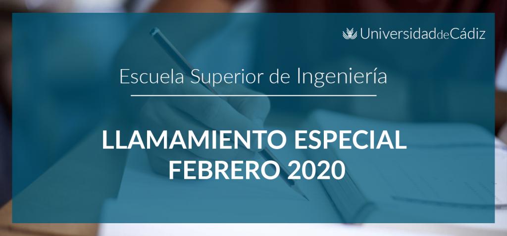 LLAMAMIENTO ESPECIAL FEBRERO 2020