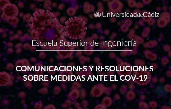 IMG COMUNICACIONES Y RESOLUCIONES SOBRE MEDIDAS ANTE EL COVID-19